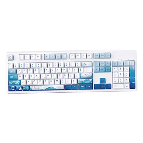 P Prettyia Gaming Keyboard Mechanical Keyboard 104 Keys with 4 Supplement Keys - Brown Switch