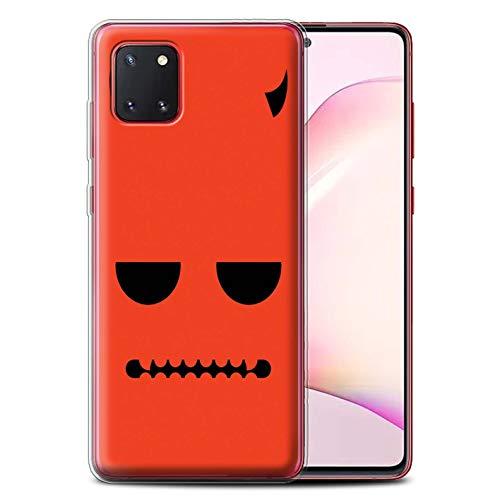 Stuff4 Gel TPU Hülle/Hülle für Samsung Galaxy Note 10 Lite 2020 / Teufel Muster/Halloween Zeichen Kollektion