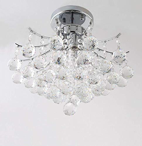 YHtech nórdico Lámparas Colgantes Lámparas de Cristal de Lujo, Crystal Lámparas de Techo, Luces Dormitorio Sala de Estar Pasillo de iluminación, 40cm (Color : 40cm)