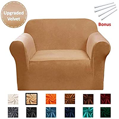 Argstar Arm Chair Cover, Stylish Couch Covers and Sofa Slipcovers for Living Room,Camel