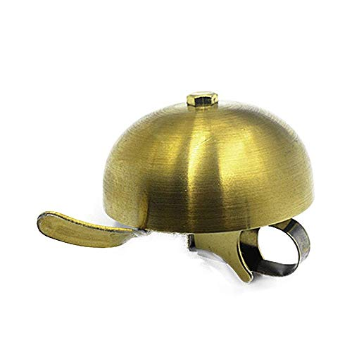 CT-CT Cycling Accessory Bicycle Bell Vintage Brass Loud Bike Bell Accessories Adult Children Mountain Bike Bell Bicycle Safe Accessories (Color : Brass, Size : Free Size)