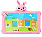 Tablet for Kids, Kids Tablet for Toddler 7 inch HD IPS Display 1G+16GB Quad Core Android 9.0 Tablet with WiFi Camera Safety Eye Protection Parental Control Kids Learning Tablet (Pink)