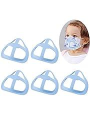 TOYMIS 5 Piezas Soporte 3D para Cubierta Facial para Niños, Marco de Soporte Interno de Silicona Reutilizable para Máscara, CREA más Espacio para Respirar (Azul)