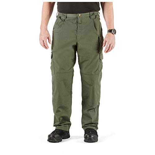 5.11 Tactical Men's Taclite Pro Lightweight Performance Pants, Cargo Pockets, Action Waistband, TDU Green, 34W x 32L, Style 74273