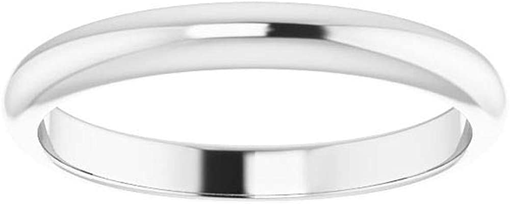 Solid 10K White Gold Curved Notched Wedding Band for 9 x 7mm Emerald Ring Guard Enhancer - Size 7