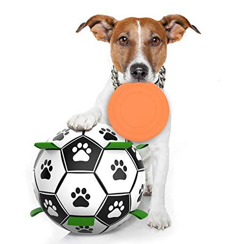 FONPOO Hundespielzeug, Hundefußball Intelligenzspielzeug für Hunde, Interaktives Spielzeug des Hofhundes im Freien, Agility Set Hund geeignet für kleine und mittlere Hunde