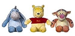 "14"" Plush Winnie the Pooh Snuggletime Soft Toys - set of 3 Pooh, Tigger & Eeyore. polyester fibre. hand wash only"