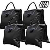 Eurmax Saddle Design Water Weight Bag Heavy Duty Water Saddlebag Portable Water Bags Outdoor Weights Photo Video Studio Stand 4-Pack(Black)