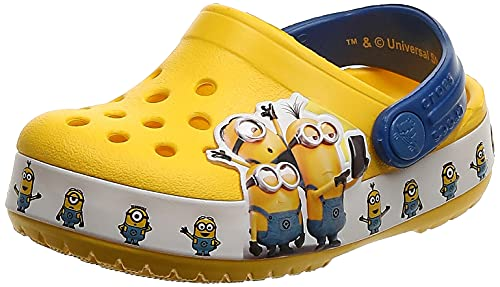 Crocs Fun Lab Minions Multi Unisex Niños Roomy Fit, Amarillo (Yellow 730), 32/33 EU