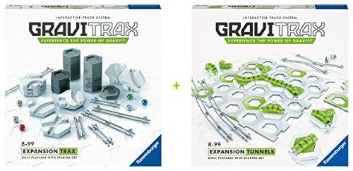 Ravensburger GraviTrax - Bundle aus den Erweiterungen Tunnel und Trax - Ideales Zubehör für spektakuläre Kugelbahnen, Konstruktionsspielzeug für Kinder ab 8 Jahren, Amazon Sonderedition