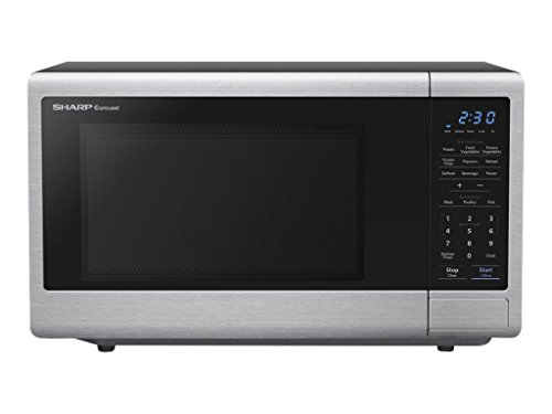 SHARP SMC1132CS Countertop Microwave 1.1 cu. ft. Capacity with 1000 Cooking Watts in Stainless Steel