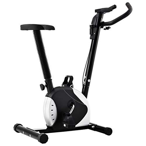 vidaXL Bicicleta Estática con Resistencia de Cinta Casa Gimnasio Fitness Entrenamiento Deporte Ejercicio Cardio Actividades Musculación Máquina Negro