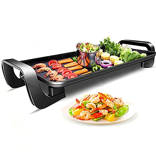 Electric Table Top Teppanyaki Grill Griddle Indoor/Outdoor Heating Plate Table Cooker Hot BBQ Plate for Kitchen Party Dinner Camping Festival Kitchen