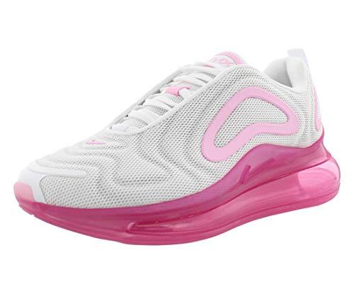 Nike W Air Max 720, Scarpe da Atletica Leggera Donna, Multicolore (White/Pink Rise/Laser Fuchsia 000), 40 EU