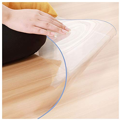 ZWYSL 1.5/2 mm Clear Plastic Table Cloth Cover Wipeable PVC Waterproof Table Protector Size can be customized (Color : 1.5mm, Size : 70X150cm)