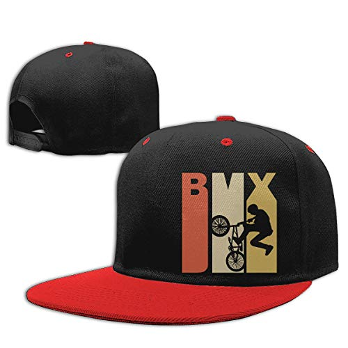 Adgjhbvn Unisex Toddler Girls Baseball Cap Retro 1970s Style BMX Silhouette Adjustable Hip Hop Hat Gorras de Hip Hop de béisbol