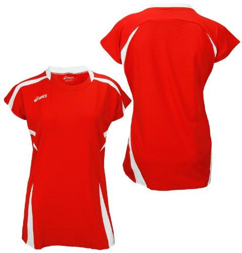 ASICS Women's Blocker Jersey (Medium, Red/White)