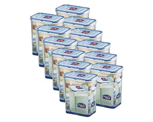 Lock&Lock   HPL813 Vorratsdosen & Frischhaltedosen   Füllmenge 1,8 L   BPA frei & spülmaschinengeeignet   luftdicht & wasserdicht   Aufbewahrungsdose & Vorratsbehälter mit 4fach Klickverschluss