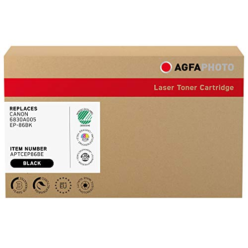 AgfaPhoto Laser Toner ersetzt Canon 6830A005; EP-86BK, 13000 Seiten, schwarz (für die Nutzung in Canon LBP-5800)