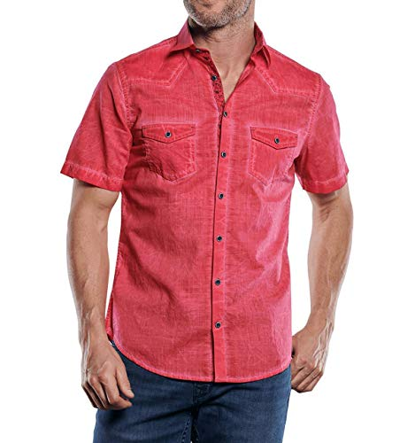 engbers Herren Hemd mit speziellen Waschungen, 29900, Rot in Größe 5XL
