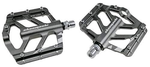evetin FLAT piattaforma ultra light Pedali per Bicicletta MTB Bici da Corsa in alluminio lega Città Bicicletta Tiger, grigio