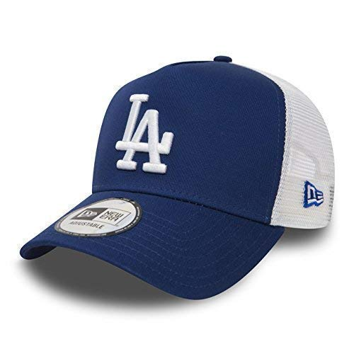 New Era Gorra Béisbol Malla cap en el Bundle con UD PAÑUELO New York Yankees LOS ANGELES DODGERS - LA ROYAL / blanco, OSFA (One Size fits all)