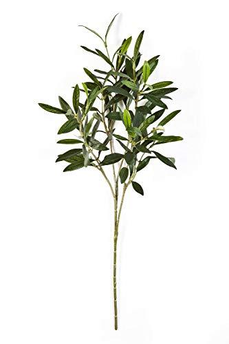 artplants.de Branche d'olivier Artificielle, 105 Feuilles, Vert, 50cm - Branche Artificielle - Olivier Artificiel