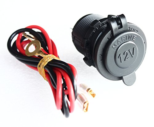 Bandc Waterproof Marine Motorcycle ATV Rv Power Outlet Socket Receptacle Dc 12v Plug with Wire