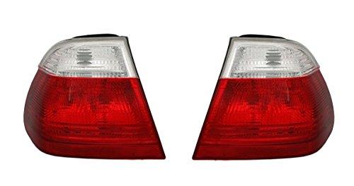 Set de feux arrière DEPO en rouge - Blanc - Parties extérieures gauche et droite.