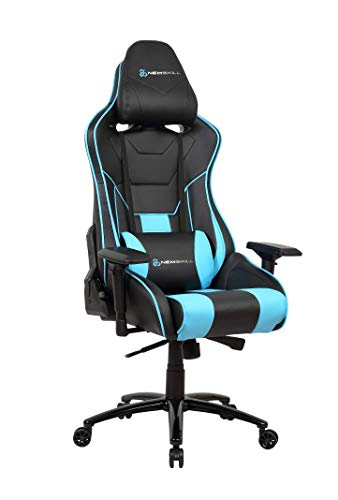 Newskill Kuraokami - Silla Gaming Profesional (Inclinación y Altura Regulable, reposabrazos Ajustable, reclinable 180º), Color Azul