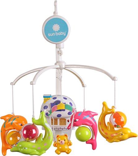 Sun bébé ak111 Musique de mobile pour le lit bébé avec lampe et jouets en plastique blanc