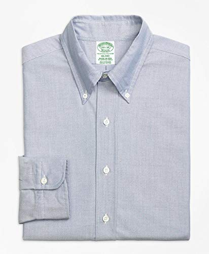 Brooks Brothers(ブルックス ブラザーズ) スーピマコットン オックスフォード ポロボタンダウン ドレスシャツ Milano Fit 100058219 ブルー 14 1/2-32