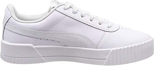 PUMA Damen Carina L Niedrig, Weiß White White Silver, 40.5 EU