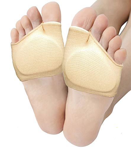 Metatarsal Sleeve Pads, Half Toe Bunion Sleeve with Sole Forefoot Gel Pads Cushion for Diabetic Feet Metatarsalgia Mortons Neuroma Prevent Calluses Blisters, 2 Pieces