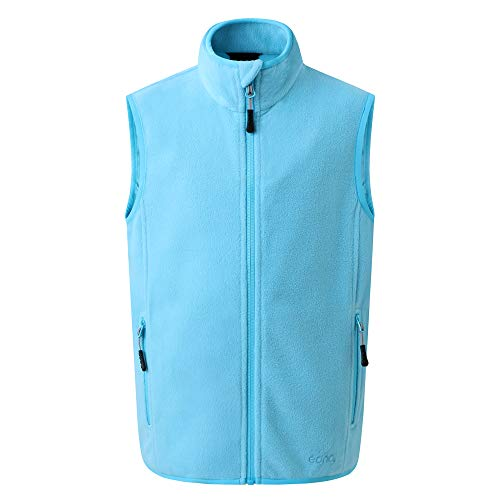 Eono Essentials Junior-Fleece-Weste (Cyanblau, 140)