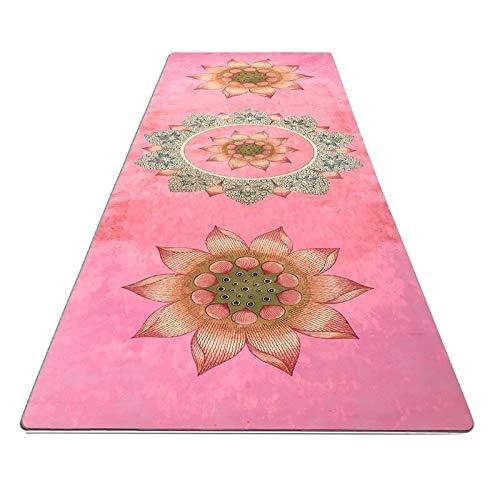 El medio ambiente antideslizante yoga piso Prati Lotus diagrama de Yoga Mat, Slip-El sudor absorbente, de alto grado de Yoga Mat natural ante y caucho natural El medio ambiente antideslizante yoga pis