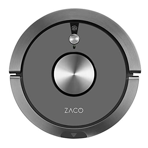 ZACO A9s Robot Aspirador y fregasuelos con WiFi, Alexa, Google, App, Aspiradora y fregadora 2en1 con cámara de navegación, Recipiente XL 600ml, aspiradores silenciosos para pelos de Mascotas, Gris