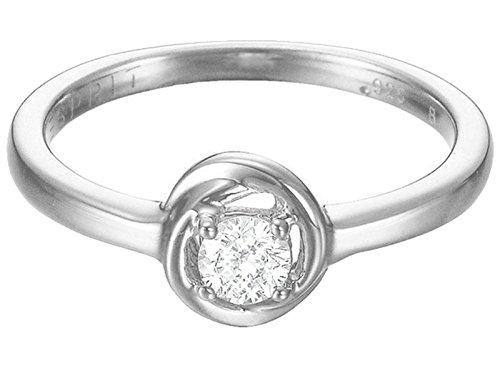 ESPRIT Essential - Anillo para mujer 925 plata rodiada con circonita, talla 17