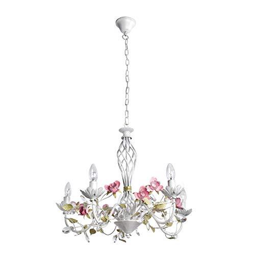 Lámpara de araña colgante de cristal transparente, estilo