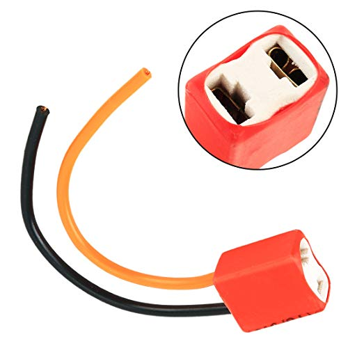 Preisvergleich Produktbild Autoteile Scheinwerfer Adapter H7-Birnen-Halter-Unterseite mit Draht Auto-Scheinwerfer-Stecker Lampenfassung Relay-Lampen-Halter-Draht-Stecker Keramik,  for Autos