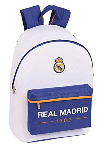 SAFTA Real Madrid, Zainetto Unisex-Bimbi 0-24, Bianco e Blu, M