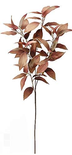 ASCA 造花 フラワーアレンジメント ユーカリ ライトブラウン 全長95cm