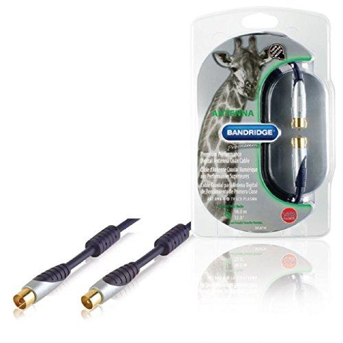 Bandridge SVL8710 - Cable Coaxial para Antena Digital, 10 m, azul