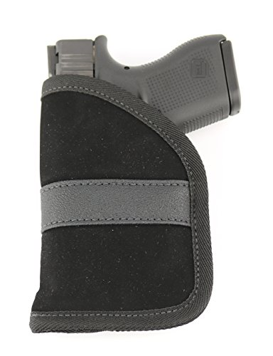 Ultimate Pocket Holster - Ultra Thin for Comfortable Concealed Carry - Compatible w/Most Pistols and Revolvers from Glock Ruger Taurus Smith and Wesson Kimber Beretta & More (Micro and Subcompact)