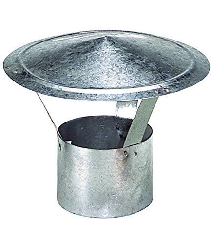 WOLFPACK 22010066 Sombrero Galvanizado Para Estufa de 120mm