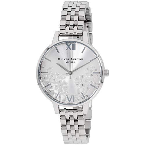 Olivia Burton Bejewelled Lace Quartz Silver Dial Ladies Watch