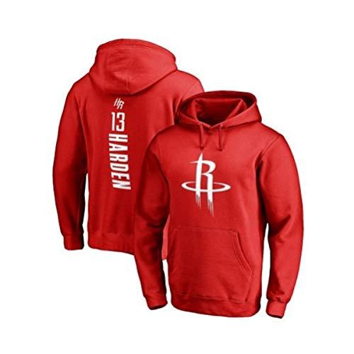 WXR Sudaderas con Capucha para Hombre Sudadera con Capucha de la NBA Rockets Harden suéter de Baloncesto con Capucha, Grupo de Competencia, para Hombres, versión Suelta, Sudadera
