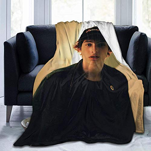 Jupsero Finn Wolfhard - Manta de Franela súper Suave para Aire Acondicionado, Manta de Aire Acondicionado, Manta de enfriamiento, Mantas de Toalla para Ropa de Cama para el hogar, sofá, Deco