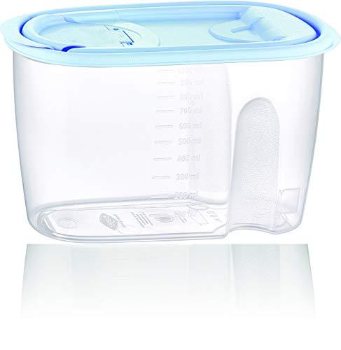 BAGER 6er Set 1 Liter Vorratsdosen Vorratsbehälter Schüttdosen Müslidosen Müslibehälter Haushaltsdosen Streudosen Gewürzdosen