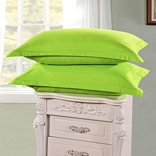 Leileixiao 2 fundas de almohada tamaño Queen 100% microfibra cepillada ultra suave (color: verde)